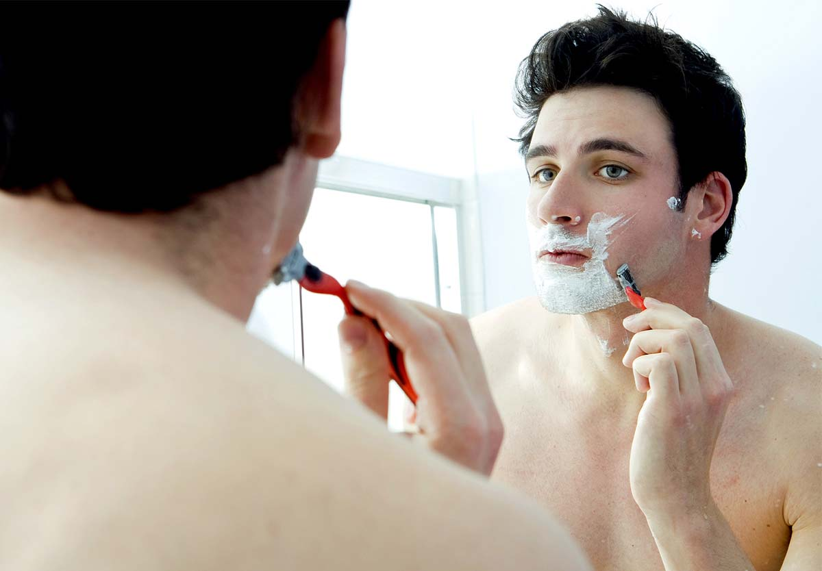 shaving sensitive skin